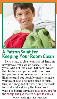 Need help getting motivated to do chores? St. Zita will help!