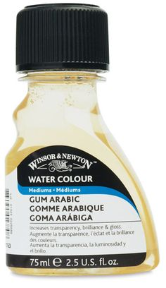 Gum Arabic for depth and gloss