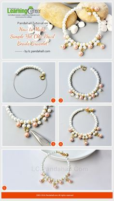 Pandahall Tutorial on How to Make Simple Yet Chic Pearl Beads Bracelet from LC.Pandahall.com | Jewelry Making Tutorials & Tips 2 | Pinterest by Jersica
