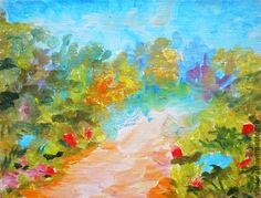 """картина """"Голубые дали"""" - картина в интерьер,картина весна лето,купить картину маслом"""