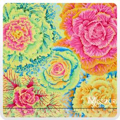 Kaffe Fassett Hot Collective - Brassica Yellow Yardage from Missouri Star Quilt Co