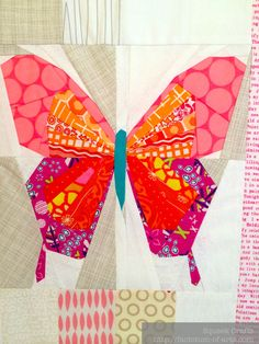 Butterfly No. 3 - a FPP Pattern | Butterfly, Patterns and Paper ... : butterfly quilt blocks - Adamdwight.com