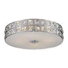Elk 810814 1512 by 434Inch Wickham 4Light Flush Mount with ClearWhite Glass Shade Chrome Finish -- Visit the image link more details.