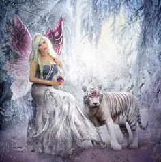 Princess Fairy and her Siberian Tiger.