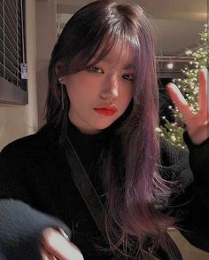 Korean Long Hair, Korean Bangs, Thin Bangs, Long Hair With Bangs, Ulzzang Hair, Ulzzang Korean Girl, Hair Inspo, Hair Inspiration, Uzzlang Girl