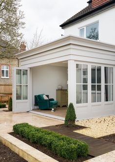 Home - Renovated extension with bespoke timber bifold doors, windows and joinery - Garden Room Extensions, House Extensions, Home Renovation, Home Remodeling, Cottage Renovation, Orangerie Extension, Orangery Extension Kitchen, Door Design, House Design