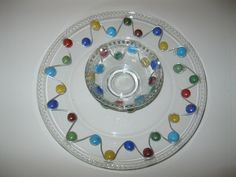 Colorful Beaded Appetizer Plate and by AcrossAmericaGlass on Etsy, $29.99