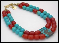 ARIANNA  Natural Turquoise  Turquoise por sandrawebsterjewelry, $220.00