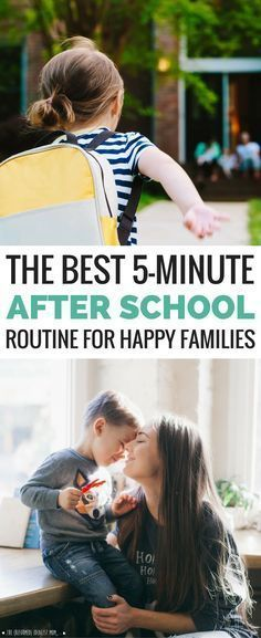 This is the BEST after school routine for kids! Start your afternoon with this 5-minute habit *before* homework and *before* dinner prep, and you'll all be happier and feel more connected. Perfect for busy families with packed schedules!