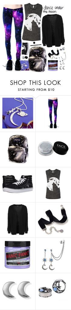 """""""Galaxy"""" by xx-prince-gumball-xx ❤ liked on Polyvore featuring FACE Stockholm, Vans, Topshop, Sweet Romance, Arbonne, Manic Panic NYC, ChloBo and PrinceGumballsCloset"""