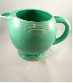 A beautiful green Fiesta Homer Laughlin pitcher