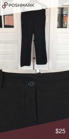 Charcoal dress pants from Loft Charcoal dress pants from Loft- thicker fabric, great for work! LOFT Pants Boot Cut & Flare