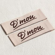 stripe cloth label tag for feather cotton garments