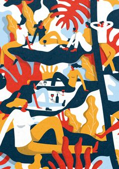 Colorful illustration by Monge Quentin.
