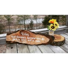 Check out this item in my Etsy shop https://www.etsy.com/listing/225979658/today-two-families-large-rustic-wedding