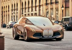 """Munich-based designer Seungmo Lim created this striking new vehicle concept for BMW.  """"The design of the BMW Vision Vehicle is characterised by a blend of coupé-type sportiness and the dynamic elegance of a sedan. At 4.90 meters long and 1.37 meters high, it has compact exterior dimensions. Inside, however, it has the dimensions of a luxury BMW sedan.    The large wheels are positioned at the outer edges of the body, giving the vehicle the dynamic stance that is a trademark of BMW. When ..."""