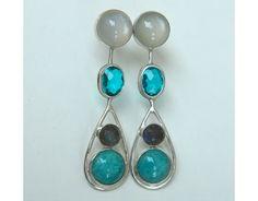 Gemstone Teardrop Earrings custom designed by b.mookie