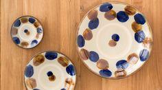 やちむん與那城 沖縄やちむん 飴コバルト点打 5寸皿|通販サイト コロカル商店×リンベル