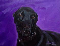 Cartoon, Purple, Classic, Dogs, Study, Painting, Animals, Engineer Cartoon, Animais