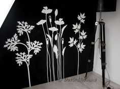 Muurschildering Weide bloemen Haarlem Muurdecoraties