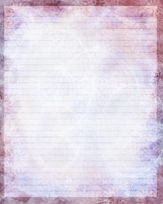 Printable Journal Page, Pink Flower, 8 x 10 JPG Download, Scrapbooking Paper, Digital Art, Stationery