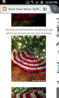 No sew ruffle tree skirt.