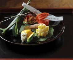 Hassun - 八寸, the second seasonal course in a kaiseki menu