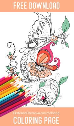 Butterfly Coloring Page Free Download