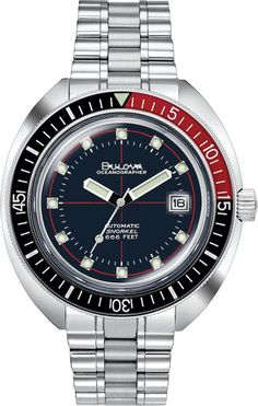 Bulova Watch Oceanographer Mens #add-content #allow-discount-yes #basel-20 #bezel-unidirectional #bracelet-strap-steel #brand-bulova #case-depth-15mm #case-material-steel #case-width-44mm #date-yes #delivery-timescale-call-us #dial-colour-blue #fashion #gender-mens #movement-automatic #new-product-yes #official-stockist-for-bulova-watches #packaging-bulova-watch-packaging #sale-item-no #style-dress #subcat- Air Force One, Bulova Watches, Winter Outfits Men, Watch Model, Metal Bracelets, Silver Man, Watch Brands, Stainless Steel Bracelet, Watches For Men