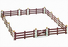(Emma) Fence Extension for Large Horse Farm with Paddock (5221) - PLAYMOBIL® USA
