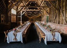 Festoon Lights For A Rustic Wedding At North Hidden Barn