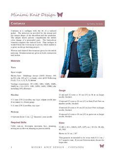 Instant download Costanza knit cardigan pattern pdf file