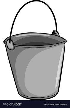 Small grey bucket vector image on VectorStock Happy Planner, Vector Free, Bucket, Flashcard, Clip Art, Grey, Adobe Illustrator, Illustration, Scrapbooking