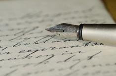 万年筆, 手紙, 手書き, 家族の手紙, 書かれました, ペン, インク