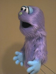 Professional Muppet Style Puppet - Purple & Blue Moster. $100.00, via Etsy.
