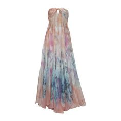 GIORGIO ARMANI Floral Print Silk Strapless Evening Gown   From a collection of rare vintage evening dresses at https://www.1stdibs.com/fashion/clothing/evening-dresses/