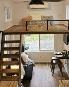 Tiny House Loft, Best Tiny House, Tiny House Living, Tiny House Plans, Tiny House Design, Tiny House On Wheels, Tiny Loft, Small Room Design, Home Room Design