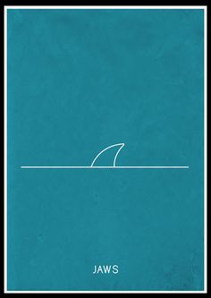 Jaws (1975) - Minimal Movie Poster by Jon Glanville ~ #jonglanville #minimalmovieposters #alternativemovieposters