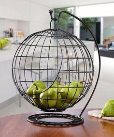 Mesa Sphere Banana Hanger & Fruit Basket on also on bed bath and… Countertop Organization, Sink Countertop, Home Organization, Countertops, Kitchen Items, Kitchen Gadgets, Kitchen Decor, Vase Deco, Fruit Holder