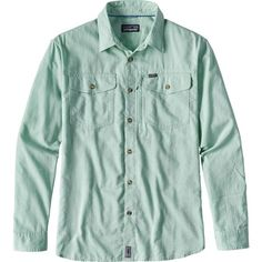 Patagonia Cayo Largo Shirt (100,320 KRW) ❤ liked on Polyvore featuring men's fashion, men's clothing, men's shirts, men's casual shirts, mens roll up sleeve shirts, mens brown shirt, mens stretch shirts, mens beach shirts and mens long sleeve casual shirts