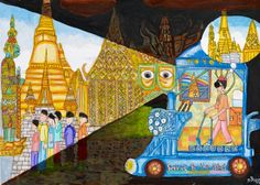 Car for Visually Impaired People by Katunyu Wattanapraditchai: 'This car will help visually-impaired people to travel without a white cane. If they drive this car, they will be able to see everything. So people will be more independent and active in the society.' #Kidsart #ToyotaDreamCar