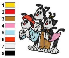 Animaniacs Embroidery Designs