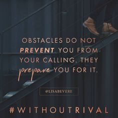What is it that you see as a PROBLEM that God calls a POSSIBILITY? Our God has the POWER to cause all things (the good, the bad, & the ugly) to work together for our good when we are submitted & committed to His PLAN & PURPOSE in our lives. Change your PERSPECTIVE & discover a life #WithoutRival