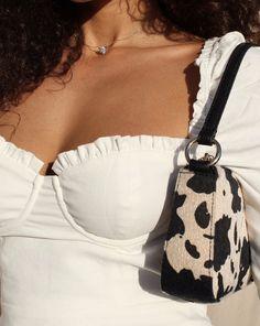Angel Shoulder Bag in Cow Print Aesthetic Bags, Aesthetic Clothes, Tod Bag, Bag Women, Cow Print, Fashion Bags, Fashion Fashion, Cheap Fashion, Fashion Details