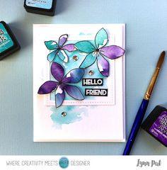 Hello Friend card by Lynn Put