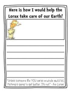 The Lorax Writing {FREE}