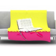 KESS InHouse Barcelona Chair by Oriana Cordero Fleece Throw Blanket Size: