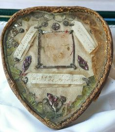 Antique Heart Shaped Reliquary Box Mid-1800s by PinyolBoiVintage on Etsy
