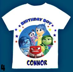 Inside Out movie birthday T-shirt Personalized 1st 2nd 3rd 4th 5th 6th Personalization is included at no additional cost. by FantasyKidsDesigns on Etsy https://www.etsy.com/listing/237424975/inside-out-movie-birthday-t-shirt
