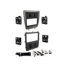 Metra - Dash Kit for Select 2010-2014 Ford Mustang Vehicles - Charcoal/matte black (Grey/Matte Black)